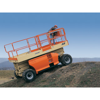 Scissor Lift, 10m - 33ft,  All Terrain Levelling