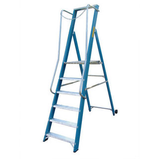 Fibreglass Step Ladder - Extra Wide Platform