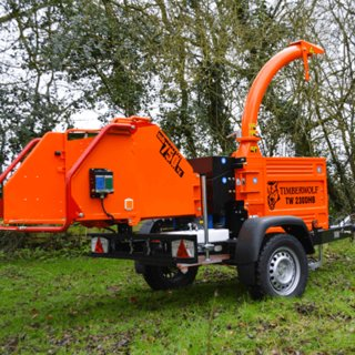 Diesel Road Tow Wood Chipper