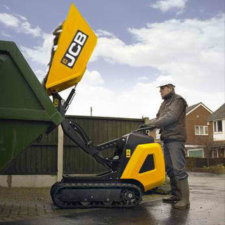 High Tip Tracked Pedestrian Mini Dumper
