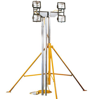 Four Head Floodlight Lighting Mast